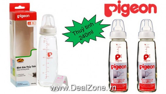 DZ1236 - Bình sữa Pigeon Thủy Tinh 240ml