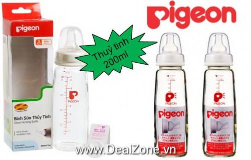 DZ1235 - Bình sữa Pigeon Thủy Tinh 200ml