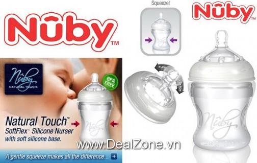 DZ1218 - Bình sữa Silicon NUBY - Úc