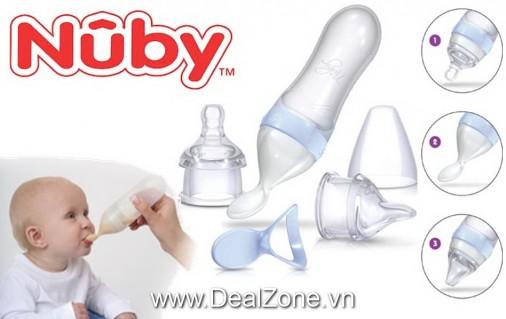 DZ1220 - Bộ bình cho ăn 3 nắp Nuby