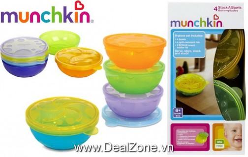 DZ974 - Bộ 04 bát ăn đa dụng Munckin