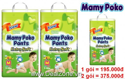 DZ1211 - Tã quần MamyPoko size M34 dành cho bé...