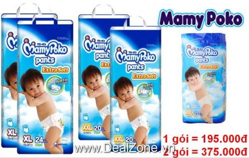 DZ1210 - Tã quần MamyPoko dành cho bé trai (L,...