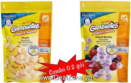 DZ716 - Combo 02 hộp bánh tan Yogurt Gerber USA