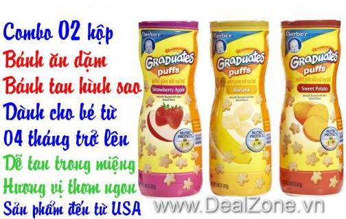 DZ549 - Bánh ăn dặm Gerber Graduates Puffs USA
