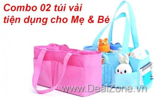 DZ996 - Combo 02 túi vải tiện ích cho mẹ và...