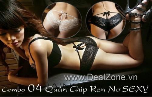 DZ578 - Combo 04 quần chip ren Sexy cho Nữ giới
