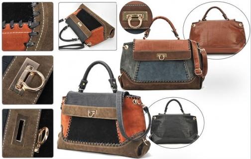 DZ1106 - Túi xách phối màu thời trang