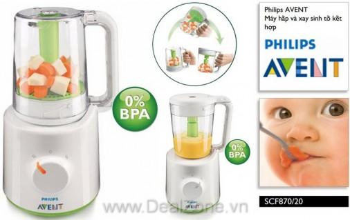 DZ874 - Máy hấp và xay thức ăn Philips AVENT