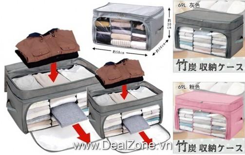 DZ1173 - Túi vải 3 ngăn - khóa chữ U cao cấp...