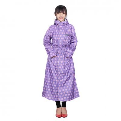 Áo mưa măng tô thời trang Sơn thủy K19 tím...