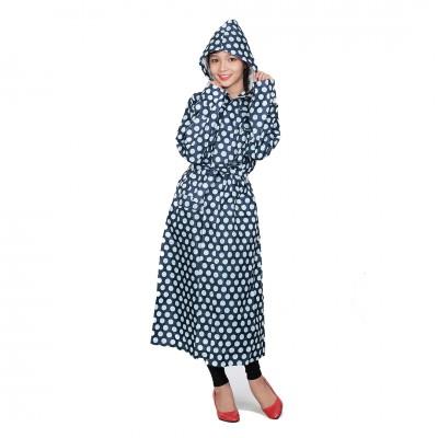Áo mưa măng tô thời trang Sơn thủy K19 chấm...