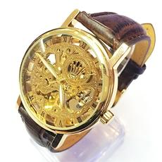 Đồng hồ cơ không PIN Rolex Omega Dây Da | Dong ho co, khong pin Rolex Omega day da - ID651