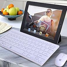 Bàn phím và chuột không dây apple mini - Thiết kế tinh tế, sử dụng công nghệ không dây cực hiện đại, tiện lợi dùng trong mọi hoàn cảnh. ID278