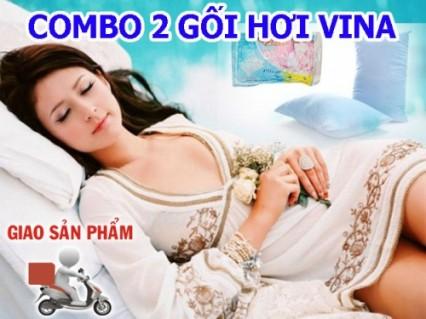 Vỗ về giấc ngủ thương yêu với gối hơi bông Vina cao cấp. Ưu đãi giảm 50% giá cho thành viên dhdeal.vn