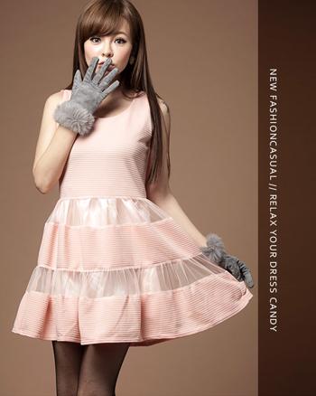 Đầm xòe phối lưới hàng nhập Quảng Châu - Dáng đầm xinh giúp tôn lên vóc dáng thanh mảnh cho phái đẹp.ID752