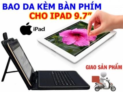 Bảo vệ toàn diện cho tất cả máy tính bảng và IPAD 9.7 inchs với Bao Da Kèm Bàn Phím USB 2.0