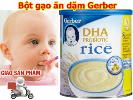 Hộp Bột Gạo Ăn Dặm Gerber Có Bổ Sung DHA Cho Bé Yêu, Hàng Xách Tay Của Mỹ - Sản phẩm cho bé