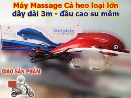 Massage toàn thân mọi lúc mọi nơi, giảm nhức mỏi, căng thẳng tức thì với máy massage Cá heo loại lớn.