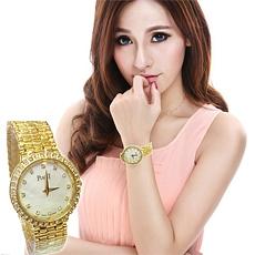 Dong ho Piaget | Đồng hồ Piaget mạ vàng và bạch kim dây kim loại, mặt đồng hồ cẩn xà cừ cực đẹp. ID1292