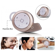DH Deal - Tai nghe Bluetooth mini Samsung 9200 chinh hang - Mau Gold - ID1500
