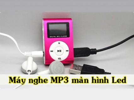 Máy nghe nhạc Mp3 có màn hình Led hiện thị - đầy đủ phụ kiện đi kèm giá lại cực sock.