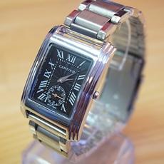 DH Deal - Dong ho nam mat vuong Cartier Platinum -mat den - ID1664