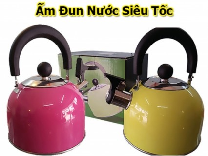 Ấm đun nước mê ca hát được làm từ Inox 201 chất lượng cao, sử dụng được trên bếp gas, bếp từ...