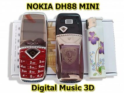 Điện thoại Nokia DH88 siêu nhỏ, 2 sim 2 sóng với chức năng âm thanh Digital 3D Music cực hay..