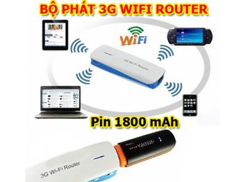 Bộ phát 3G wifi router giúp bạn sử dụng mạng 3G chia sẽ nhiều máy tính nhanh như Wifi. ID425