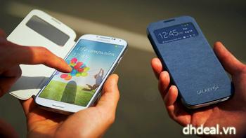 Bao da Samsung Galaxy S4 S View Cover - Siêu nhẹ, siêu mỏng, có thể theo dõi và trả lời cuộc gọi mà không cần mở nắp. ID581