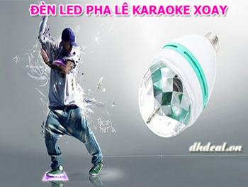 Den Led Pha Lê Karaoke Xoay Loại Lớn - Tự động xoay và chiếu đèn đẹp lung linh. ID583