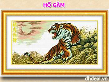 Hổ Gầm - Tranh Thêu Chữ Thập Pinkoo JD018 11CT92x51. In màu chuẩn 100%. ID591