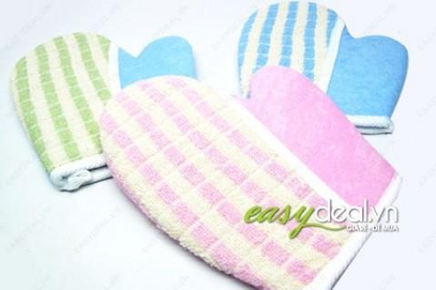 Găng tay tắm từ sợi cotton - thư giãn tối đa khi tắm - Đồ dùng trẻ em
