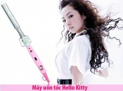 Mái Tóc Bồng Bềnh Với Máy Uốn Tóc Hello Kitty - Đồ Dùng Điện