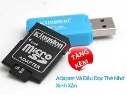 Combo thẻ nhớ Micro SD 8GB + Adapter + Đầu đọc thẻ - Công Nghệ - Điện Tử