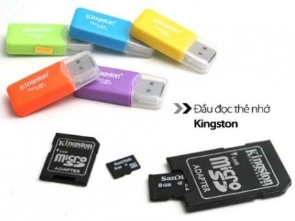 Combo thẻ nhớ Micro SD 8GB + Adapter + Đầu đọc thẻ