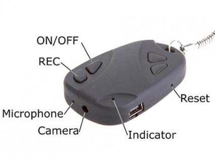 Móc Khóa Có Gắn Camera Mini Đa Năng Tiện Dụng