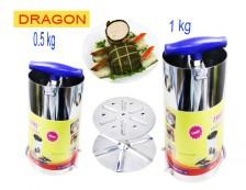 Eshop 24H - Bo 2 Khuon Lam Gio Cha Inox 1kg Va 0.5kg Thuong Hieu Dragon