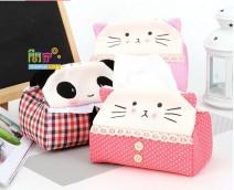Eshop 24H - Hop Dung Khan Giay Gau Panda Meo Kitty Cuc Dang Yeu (tam het hang )