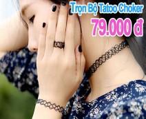Eshop 24H - Bo 3 San Pham Tatoo Choker Han Quoc