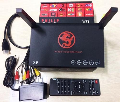 Eshop 24H - TIVI BOX PHILIPS X9 RAM 1G ANROID 5.1 Thong Minh