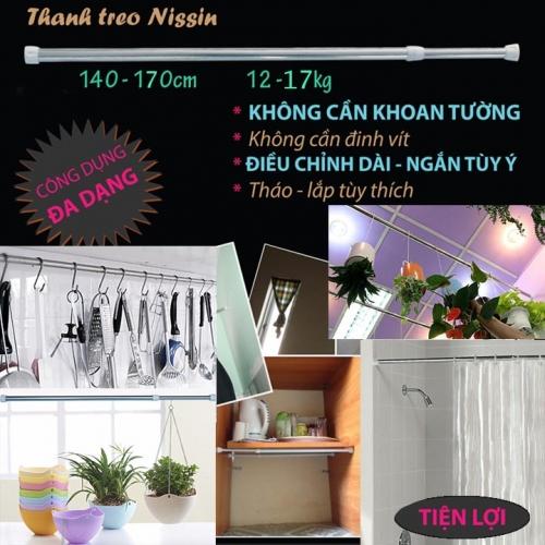 Eshop 24H - Thanh Treo Inox 140-170cm Da Nang Nissin