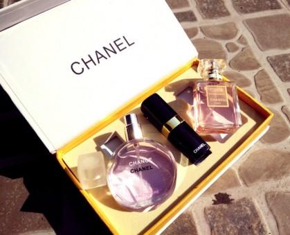 Set 2 Chai Nước Hoa Và Son Môi Chanel Quyến Rũ