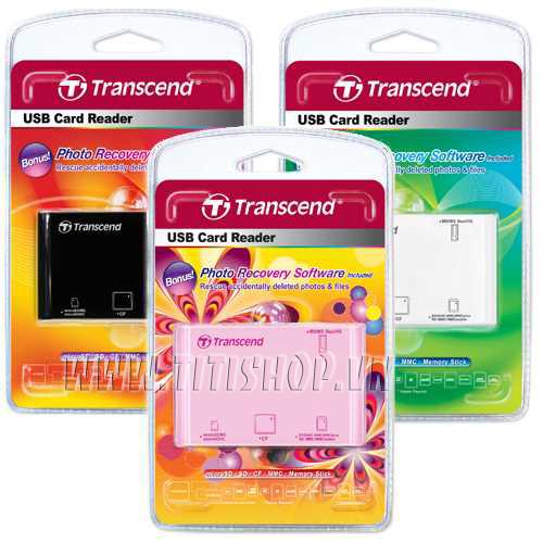Đầu đọc thẻ Đa năng Transcend 2.0 chính hãng