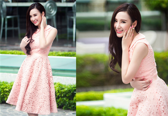 Đầm ren cổ sen Angela Phương Trinh-