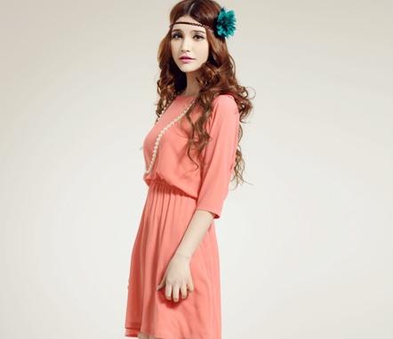Đầm thanh lịch hồng cam-
