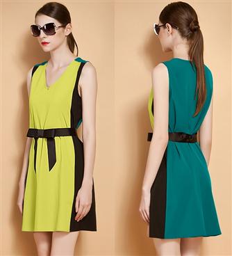 Đầm đẹp phối màu cá tính-