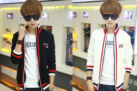 Áo khoác nam viền màu phong cách Hàn Quốc-