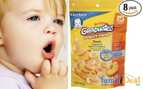 Bánh tan sữa chua Gerber - Sản phẩm cho bé